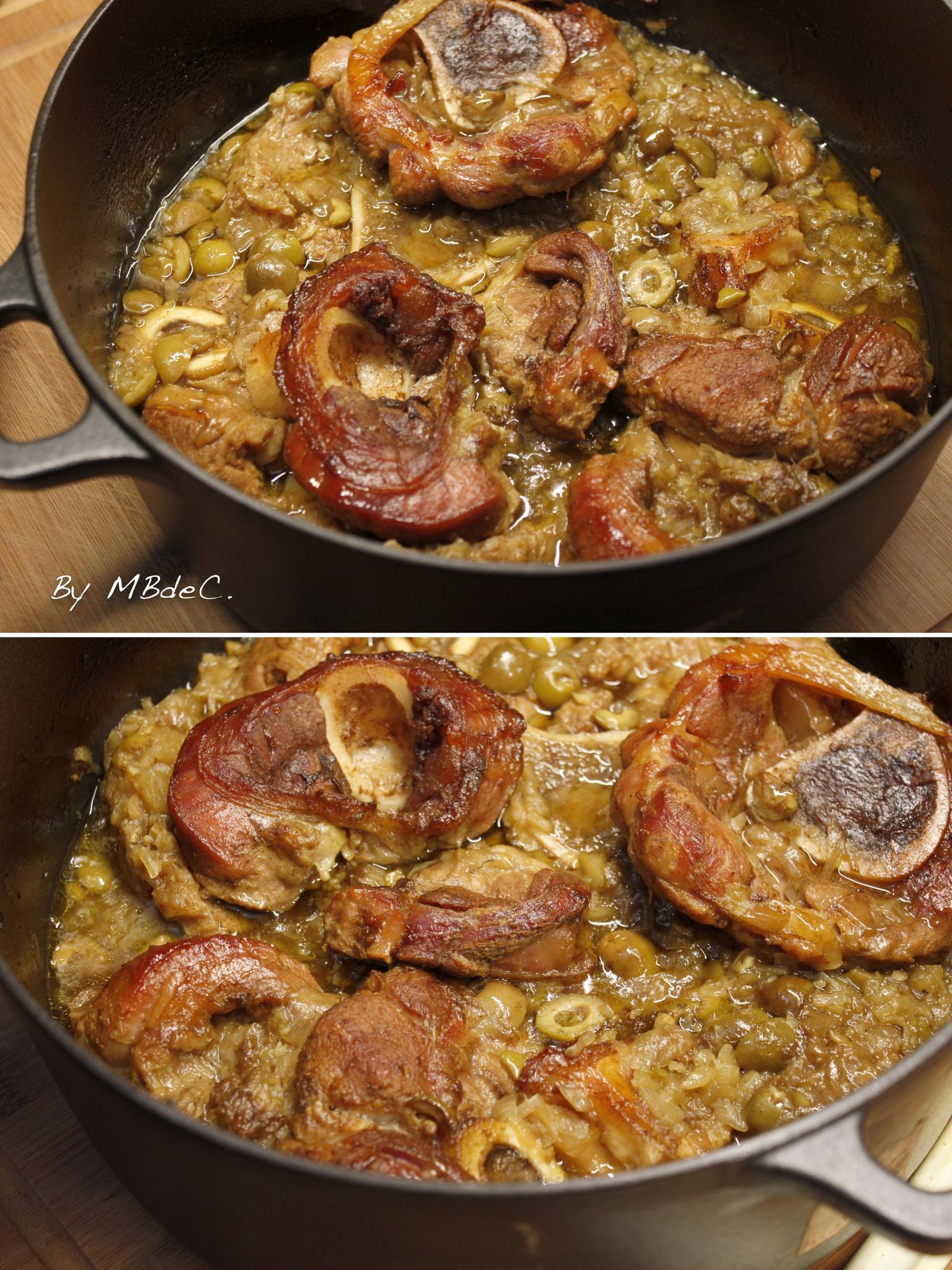 Tajine de jarret de veau au citron et aux olives mes - Cuisiner jarret de veau ...